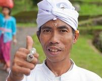 传统巴厘语的香客 免版税库存图片