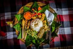 传统巴厘语膳食 库存照片