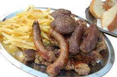 传统巴尔干的食物 库存图片