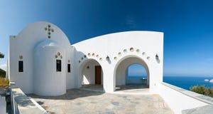 传统希腊大教堂 免版税库存照片