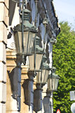传统希腊的路灯柱 库存照片