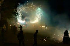 传统庆祝Sant Pere de TorellA? ³ 库存图片