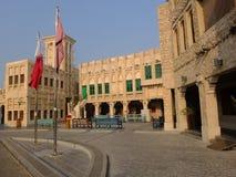 传统建筑多哈卡塔尔 库存照片