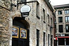 传统建筑学在老蒙特利尔,加拿大 库存图片