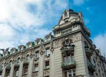 传统建筑学在诺维萨德市 免版税库存图片