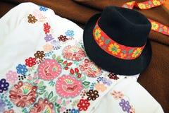 传统当代服装的斯洛伐克 免版税图库摄影