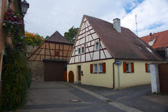 传统德国之家 库存图片
