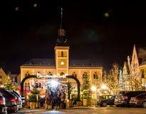 传统德国圣诞节市场在Pfaffenhofen 免版税图库摄影
