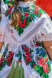传统德国民间服装细节妇女的 免版税图库摄影