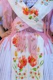 传统德国民间服装细节妇女的 库存图片