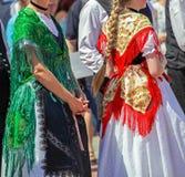 传统德国民间服装细节  免版税库存图片
