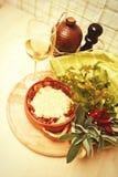 传统意大利的烤宽面条 免版税库存图片