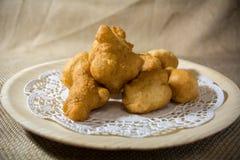 传统意大利食物在圣诞节期间 库存图片