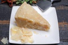 传统意大利食物- 36个月在洞意大利人parme变老了 免版税库存照片