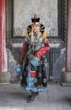 传统成套装备的蒙古妇女 免版税图库摄影