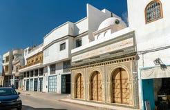 传统房子在凯鲁万麦地那  联合国科教文组织世界遗产名录站点在突尼斯 库存图片