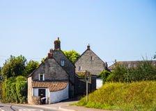 传统房子在格拉斯顿伯里地区,威尔士,英国 库存图片