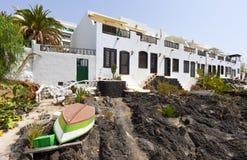传统房子在Puerto Del卡门, Lanzarote 免版税库存照片