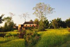 传统房子的尼泊尔 免版税库存图片