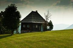 传统房子的山 图库摄影