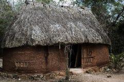 传统房子的玛雅人 免版税库存图片