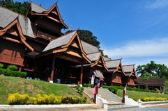 传统房子的马来语 库存图片