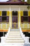 传统房子的马来语 免版税库存照片