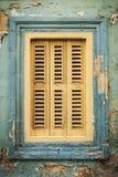 传统房子窗口建筑学细节la瓦莱塔老拖曳 免版税库存图片