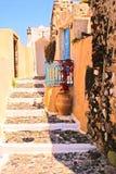 传统房子老的santorini 免版税库存照片