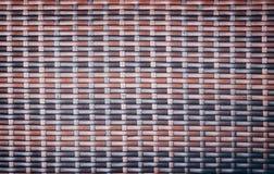传统手工造家具材料的织法泰国样式样式自然背景纹理柳条表面 免版税库存照片
