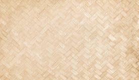 传统手工造竹被编织的纹理,背景的自然木样式 免版税库存照片