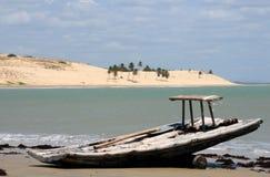 传统捕鱼的木筏 库存照片