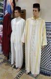 传统摩洛哥人` s衣物 库存照片