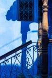 传统摩洛哥样式门和入口,舍夫沙万,Moroc 库存图片