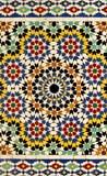 传统摩洛哥模式的瓦片 免版税库存图片