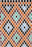 传统摩洛哥马赛克墙壁,摩洛哥细节  免版税库存照片