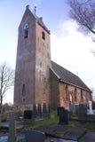 传统教会的弗里斯兰省人 库存图片