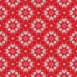 传统斯堪的纳维亚模式 北欧种族无缝的被编织的背景 免版税库存照片