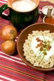 传统斯洛伐克食物 库存图片