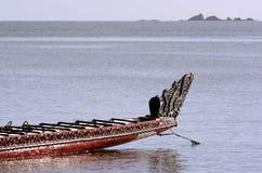 传统新西兰毛利人Waka 库存照片