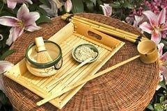 传统日本人集合的茶 免版税库存图片