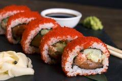 传统日本寿司-普遍的食物在世界上 库存照片
