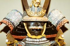 传统日本幕府时代的将军武士装甲 免版税库存照片