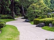 传统日本庭院,禅宗庭院 库存图片