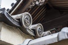 传统日本建筑学,福冈日本 库存图片