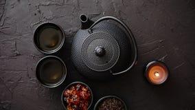 传统日本或中国清凉茶 影视素材
