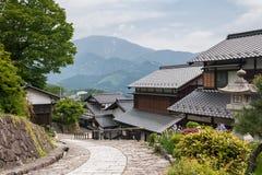 传统日本村庄 免版税库存照片