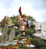 传统日本牵线木偶的木偶 免版税库存照片