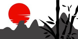 传统日本绘画 图库摄影