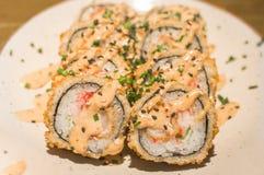 传统日本豆腐寿司 免版税库存照片